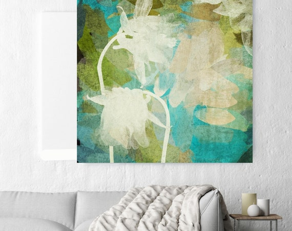 Light green. Green Floral Canvas Print by Irena Orlov