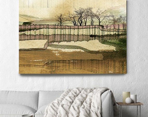 "LANDSCAPE PAINTING Original Art, The Landscape Mystery, Impressionistic, Rustic Landscape Painting Canvas Art Print up to 80"" by Irena Orlov"