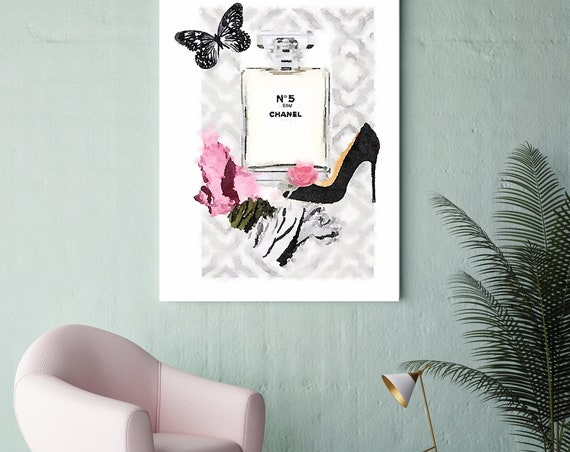 Fashion Wall Art, Fashion Wall Decor, Vanity Wall Art, Canvas Print, High Fashion Art Canvas Fashion, Fashion brand