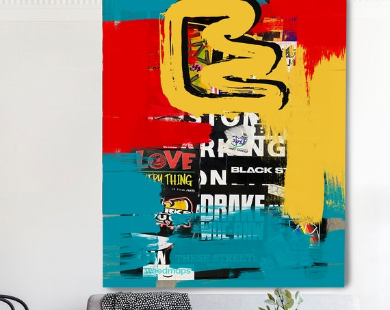 Distinct Focus , Street Art, Graffiti Wall Art Street Art Painting Print on Canvas, Large Canvas Print, Urban Canvas Print