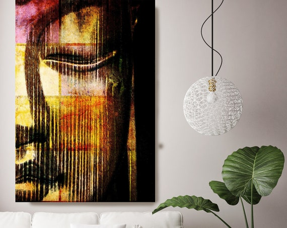 "The Big Buddha. Large Buddha Canvas Print, Yellow Red Buddha Canvas Art Print up to 88"" by Irena Orlov"