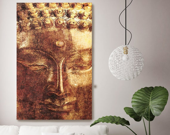 "Gold Buddha. Large Buddha Canvas Print, Yellow Red Buddha Canvas Art Print up to 96"" by Irena Orlov"