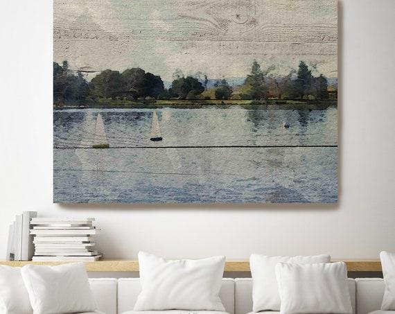 Vintage Scene. Seascape Painting, Landscape Painting Seascape Painting Canvas Art Print, Boat Ocean, Irena Orlov
