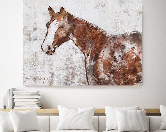 Your Horse, Horse Paintings On Canvas Beautiful Horse Abstract Horse Home Decor Horse Canvas Art Print Rustic Horse Farmhouse Wall Decor