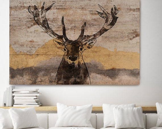 White-tailed Deer Canvas Art Large Canvas, Wild Deer Canvas Art Print, Deer Painting Rustic Deer Wild Deer Wall Art Print, Irena Orlov