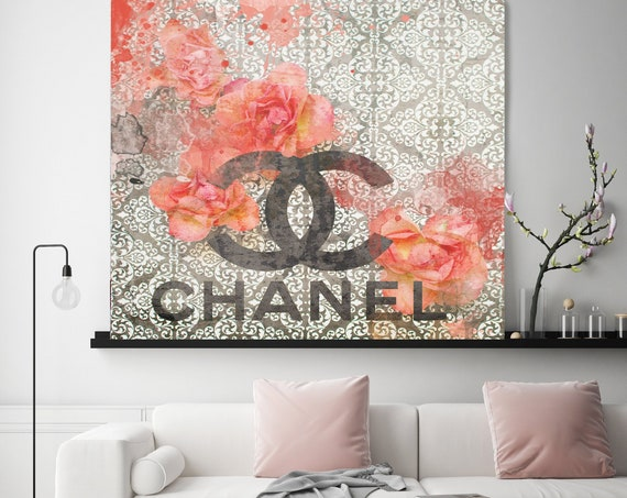 Chanel Canvas, Chanel, Large Canvas, Fashion Home Decor, High Fashion, Art Canvas, Fashion, Fashion brand, Home The beauty look Print
