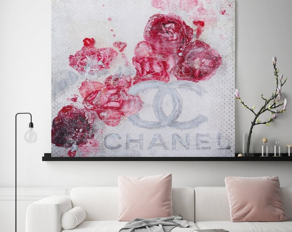 Chanel Canvas, Chanel, Large Canvas, Fashion Home Decor, High Fashion, Art Canvas, Fashion, Fashion brand, Home Art Couture collection Print