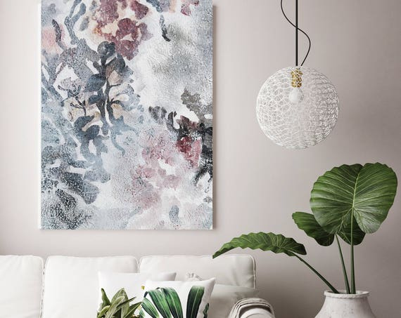 "Washed out 10. Floral Painting, Pink White Floral, Washed Large Rustic Floral Canvas Art Print up to 72"" by Irena Orlov"