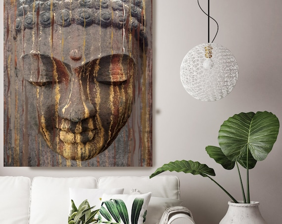 "Rustic Gold Brown Buddha. Large Buddha Canvas Print, Brown Buddha Canvas Art Print up to 96"" by Irena Orlov"
