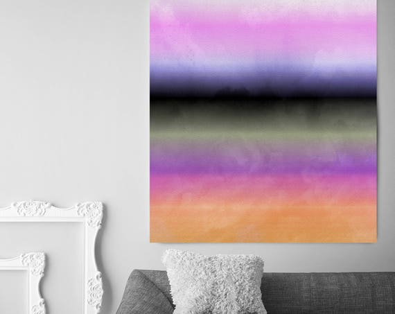 """Inspired by Rothko 25. Purple Gray Watercolor Abstract, Modern Wall Decor, Large Abstract Colorful Canvas Art Print up to 72"""" by Irena Orlov"""