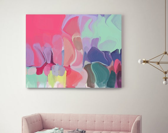 "Unsung Melodies. Abstract Paintings Art, Wall Decor, Extra Large Abstract Colorful Contemporary Canvas Art Print up to 72"" by Irena Orlov"
