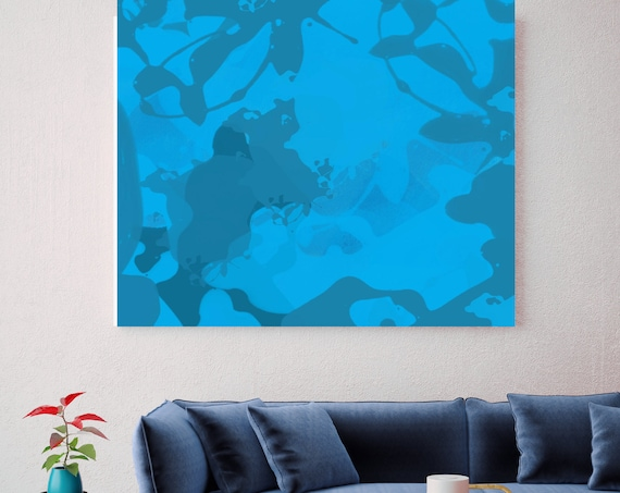 "Blue Abstract 719. Abstract Paintings Art, Wall Decor, Extra Large Abstract Colorful Contemporary Canvas Art Print up to 48"" by Irena Orlov"
