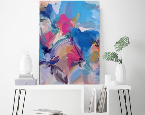 Full of Life, Large Art Abstract Painting Blue Wall Art Home Decor Canvas Prints Coastal Wall Decor Canvas Art Print Irena Orlov