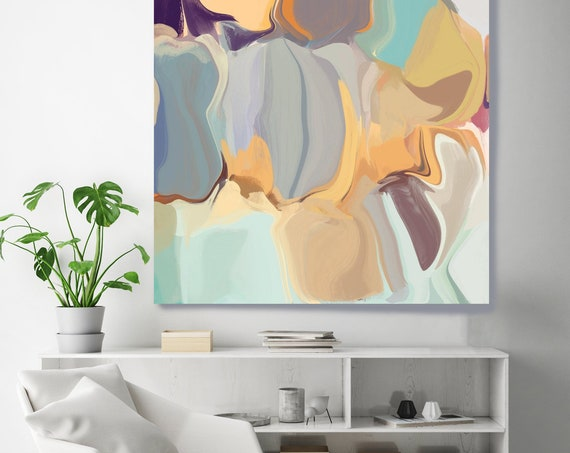 "Abstract Paintings, Wall Decor, Pastel Colors Abstract Painting Print, Large Abstract Canvas Art Print up to 48"" by Irena Orlov"