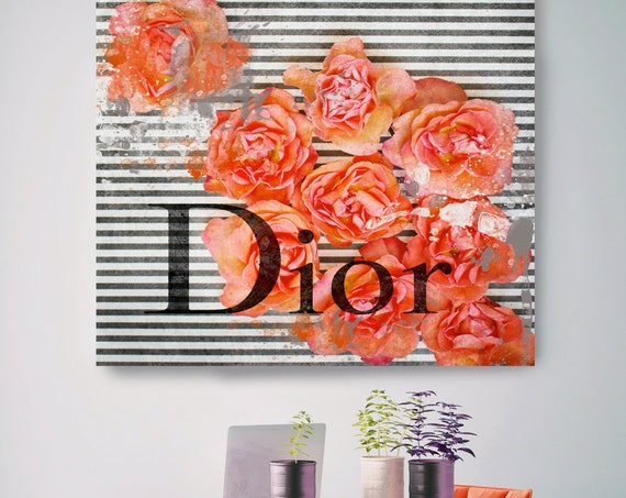 Dior Canvas, Dior, Large Canvas, Fashion Home Decor, High Fashion, Red White black Art Canvas, Fashion, Fashion brand, Stay in touch Print
