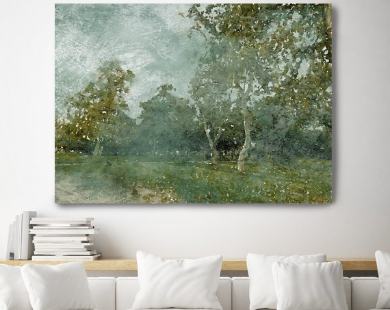 Forest Landscape painting, landscape watercolor Landscape Painting Canvas Print Landscape Art, Landscape Painting Print Trees Wall Art