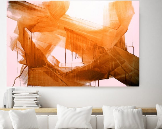 Orange Abstract Painting, Orange Bold Modern Art / Abstract Painting / Extra Large Orange Painting / Extra Large Orange Abstract Art