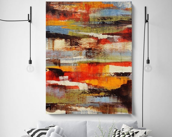 "Tranquility. Abstract Paintings Art, Wall Decor, Extra Large Abstract Colorful Contemporary Canvas Art Print up to 72"" by Irena Orlov"