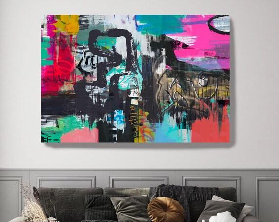 The Ability to Integrate, Street Art, Graffiti Art Print, Graffiti on canvas Street Art Painting Print on Canvas Graffiti Canvas Art Print