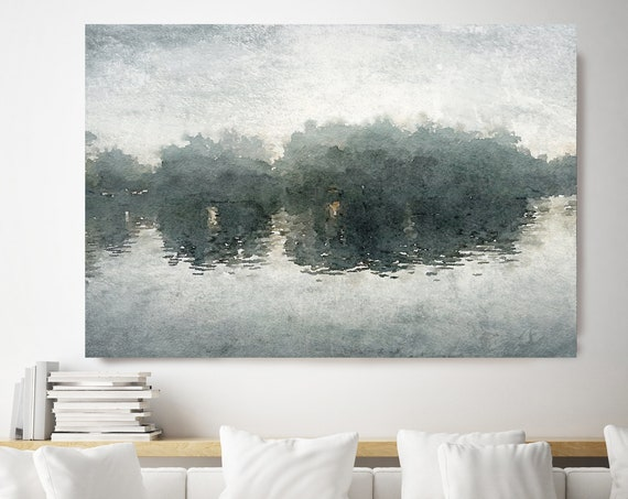 Seascape Painting, Green Blue landscape art, Marine Landscape Painting, Landscape Painting Sea Canvas Print Painting, Large Sea Canvas Print