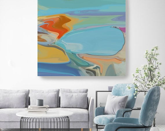 Spiritual Dreams 27, Abstract Landscape Original Painting, Contemporary art, Mountain Painting, Abstract Landscape, Abstract Painting Print