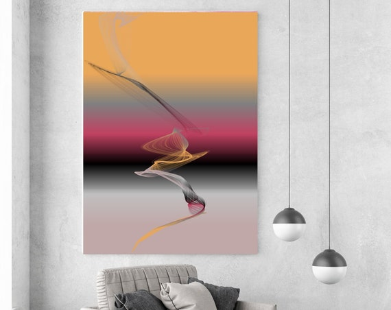 Amarige, Extra Large wall art, Abstract Painting,Yellow Red Pink painting, Large Canvas Art, Paintings On Canvas, New Media Painting, Orlov