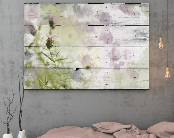 """Lavander. Floral Painting, Green Abstract Art Abstract Colorful Contemporary Canvas Art Print up to 72"""" by Irena Orlov and Natalia Bereznyuk"""