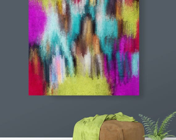 "Abstract Rhythms NO 58. Abstract Paintings Art, Wall Decor, Large Abstract Colorful Contemporary Canvas Art Print up to 48"" by Irena Orlov"