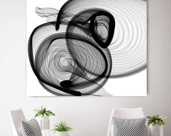 "ORL-5693 Industrial feel 2015-01-07-9. New Media Abstract Black and White Canvas Art Print, Canvas Art Print up to 50"" by Irena Orlov"