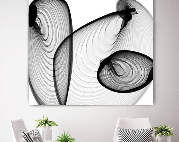 "Industrial feel 21-04-46. New Media Abstract Black and White Canvas Art Print, Canvas Art Print up to 50"" by Irena Orlov"