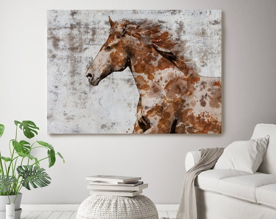 Frame Paint Horse Paintings On Canvas Horse Race Beautiful Horse Running Abstract Horse Home Decor Horse Canvas Art Print