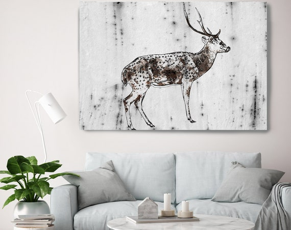 "Wild Deer Canvas Art Large Canvas, Wild Deer Canvas Art Print, Wild Deer Wall Art Print up to 81"" by Irena Orlov"