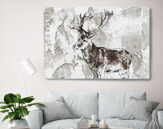 "Javan Rusa Deer Canvas Art Large Canvas, Wild Deer Canvas Art Print, Wild Deer Wall Art Print up to 81"" by Irena Orlov"