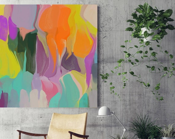 """Sunshine Dreams. Abstract Paintings Art, Wall Decor, Extra Large Abstract Colorful Contemporary Canvas Art Print up to 48"""" by Irena Orlov"""