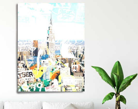 Urban Art - New York, New York City. Graffiti Art, Cityscape Art, Urban Art, City Wall Art, Urban Wall Art, Urban Canvas Art Print New York