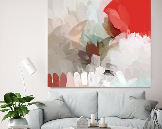 "The Beginning. Abstract Paintings Art, Wall Decor, Extra Large Abstract Colorful Contemporary Canvas Art Print up to 48"" by Irena Orlov"