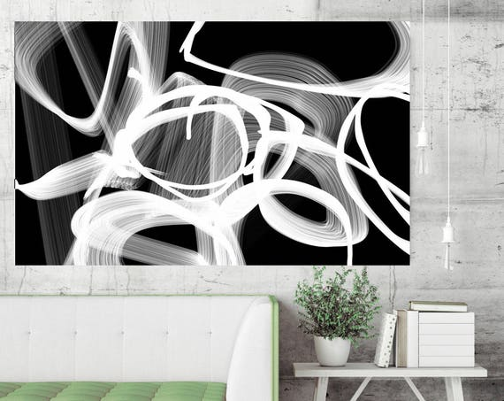 Abstract Painting Print, Black and White Prints, Abstract Painting Original, Art, Home Decor, Black and White, Abstract Print, Canvas Art