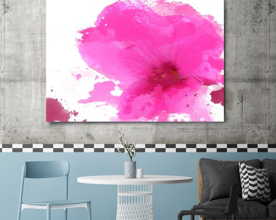 """Expression of Pink. Floral Pink Painting, Pink Abstract Contemporary Canvas Art Print up to 72"""" by Irena Orlov"""