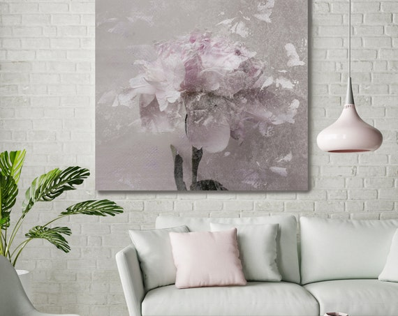 """Romantic Pink Gray Peony - Shabby Chic 5-2. Peonies, Pink, Pink Floral Fine Art Photograph, Still Life, Large Wall Art up to 50"""""""
