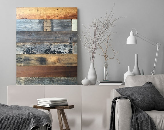 "Rustic barn wood Canvas Art Print, Extra Large Canvas Print up to 90"" by Irena Orlov"