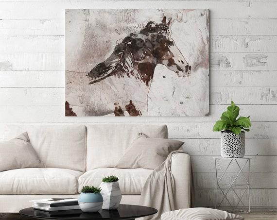 Abstang Horse Horse Paintings On Canvas Horse Race Beautiful Horse Running Abstract Horse Home Decor Horse Canvas Art Print