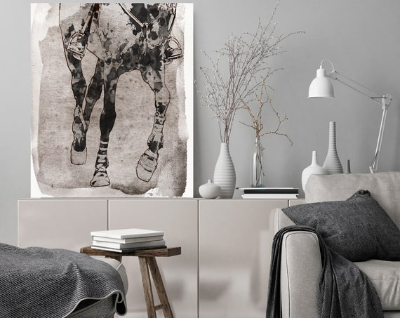 Horse Racing Paintings On Canvas Horse Race Beautiful Horse Running Abstract Horse Home Decor Horse Canvas Art Print