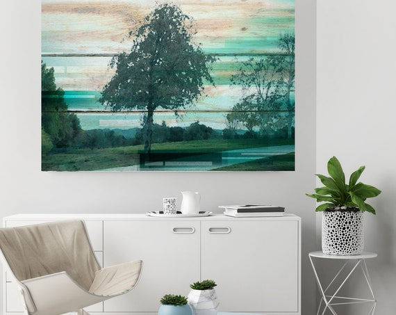 "Forest Light. Huge Rustic Landscape Painting Canvas Art Print, Extra Large Beige Green Canvas Art Print up to 80"" by Irena Orlov"