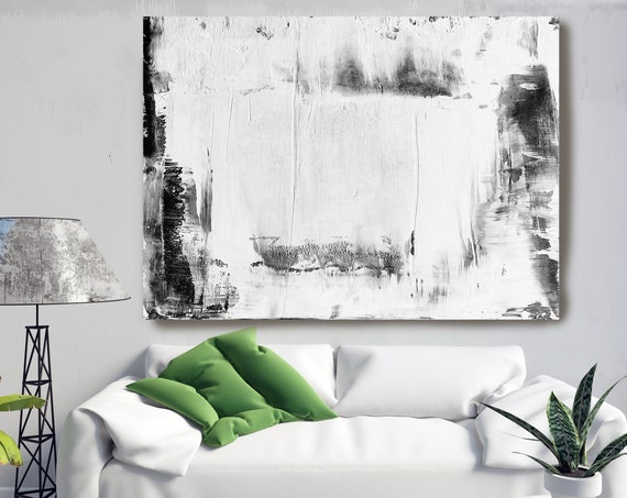 Snow White 1, White Abstract Painting Modern Art Abstract Painting Extra Large Painting Extra Large Abstract Canvas Art Print Minimalist