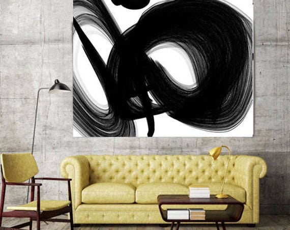 "ORL-5969 A channel. New Media Abstract Black and White Canvas Art Print, Canvas Art Print up to 50"" by Irena Orlov"