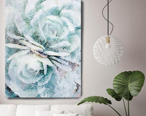 Succulent Dance, Succulent Wall Decor, Watercolor, Succulent Painting, Tropical Painting, Watercolor Painting, Tropical Canvas Print