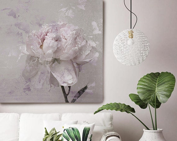 """Romantic Pink Gray Peony - Shabby Chic 3. Peonies, Lavender Pink, Pink Floral Fine Art Photograph, Still Life, Large Wall Art up to 50"""""""