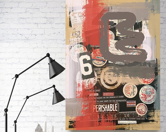 Equilibrium is Regained, Collage Wall Art,  Print on Canvas, Large Canvas Print, Urban Canvas Print, Collage wall Art, Graffiti