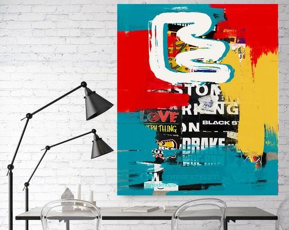 A Distinct Focus, Street Art, Graffiti Wall Art Street Art Painting Print on Canvas, Large Canvas Print, Urban Canvas Print