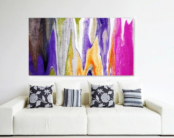 "4596-Abstract Rhythms NO 33-99. Abstract Paintings Art, Wall Decor, Extra Large Abstract Colorful Canvas Art Print up to 72"" by Irena Orlov"